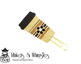 Golden Cup v1 Coffee Cup Paper Clip | Planner Clip | Planner Page Marker | Planner Accessory
