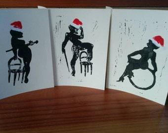 Burlesque Christmas Card Set