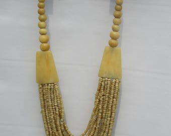 Tribal Bone Bead Necklace