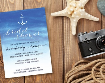 DIY Digital Printable Bridal Shower Invitation