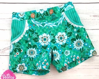 PATTERN Little Honeybuns - Girls Flat Front Shorts - PDF Sewing Pattern - Instant Download - Pattern Emporium