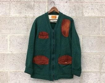 Vintage 1950's Wool Skookum Hunting Sweater / Size 40