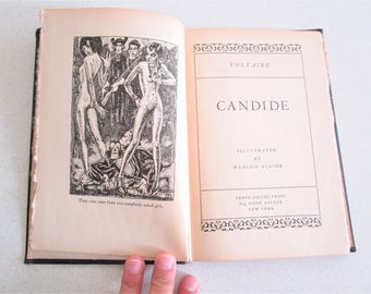 Candide by Voltaire Three Sirens Press Illustrated Mahlon Blaine Beautiful Woodblock Prints 1930
