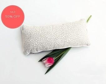"S a l e : Lumbar Pillow - Decorative Pillow - Dotted Throw Pillow - Grey Lumbar Pillow - Grey Home Decor - Marimekko Pillow 14.6"" X 6.7"""