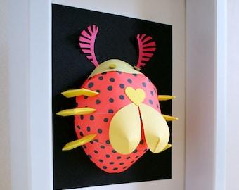 Paper 3D art, 3D wall decoration, papercut, papercraft, kids room decoration