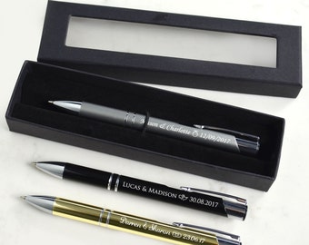 1x Engraved Designer Wedding Pen with Gift Box