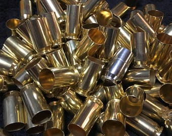 45 ACP bullets, 45 ACP Auto Brass, 100+ cleaned and polished, 45 shells casings, bullet earrings, bullet shell jewelry, reloading supplies