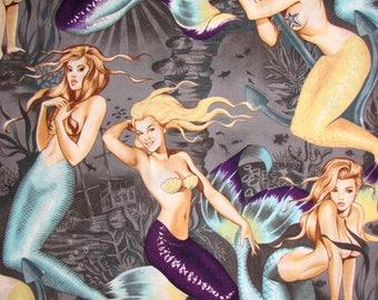 Alexander Henry mermaid fabric 100 percent cotton