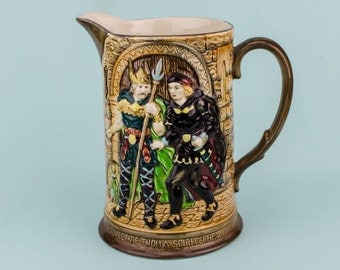 Vintage Brown JUG Milk Beswick Gift Mid-Century Modern Rustic Pottery Large Hamlet Vinegar English Mid 20th Century LS