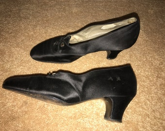 1930s Art Deco Shoes with Ruby Slipper Heels