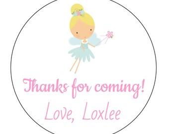 12 Blonde Fairy Stickers, Garden Fairy, Princess Theme, First Birthday, Garden Princess, Fairy Labels, Fairy Theme, Wand, Garden Party