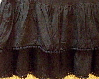 Black Two Tier Bias Cut Skirt - Size 0 - Red Dirt Girl - 318