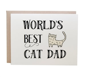 Cat Father's Day Card, Cat Dad Card, Dog Card