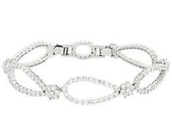 Jackie Kennedy Crystal Bracelet - Rhodium Plated, Box and Certificate