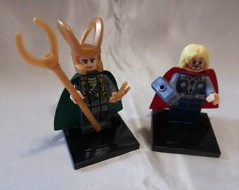 Minifigures supereroi Thor e Loki, Lego