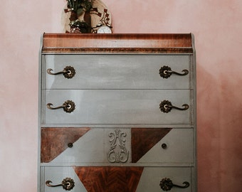 Art Deco Dresser//Gray//Design