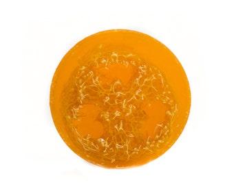 Lemon Foot Scrub Soap, Pedicure Soap, Loofah Soap, Luffa Soap, Exfoliating Soap, Soap for Feet, Natural , Vegan, Essential Oils