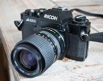 Working Vintage Ricoh a100 35mm SLR Film Camera with Lens
