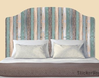 Distressed Colored Wooden Fence Wall Decals Graphic Vinyl Sticker Bedroom Wall Home Decor