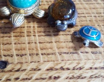 Set Of Three Turtles Avon Turtle Peace Turtle