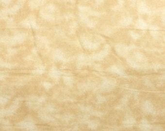 Khaki Tie Dye Snuggle Flannel Fabric - One Yard - Flannel Fabric by the Yard