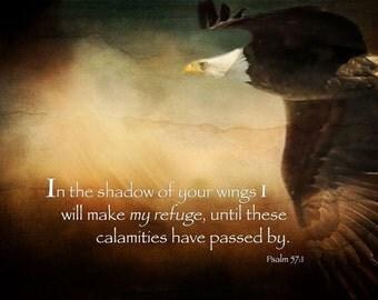 Christian Wall Art, Psalm 57, scripture, bible,psalms, bible art, scripture art,