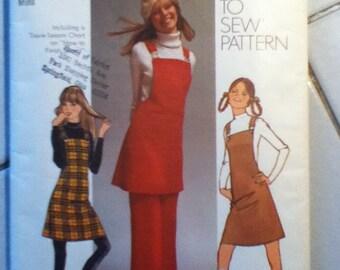 "Simplicity Vintage Jumper & Pants Pattern 9525  Size: 10, Waist 24"", Hip 34"""