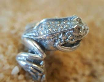 Sterling Silver Frog Ring (st - 1998)