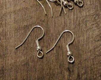 Silver Fishhook French Wire Earrings