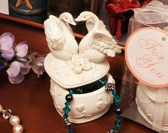 Love Swans Jewelry Box Wedding Favor Decoration Gift Keepsake