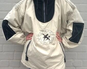 White ski jacket, winter coat, 90s snow jacket, unisex ski wear, snowboarding 80s jacket, oversize coat, unisex outwear, XL, ( GP116)