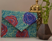 Marble Roses Ankara Clutch Purse