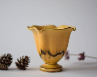Rare! Kähler (HAK) Denmark - Art Deco - Vase - uran glaze / yellow - 1930s - Danish mid century ceramics