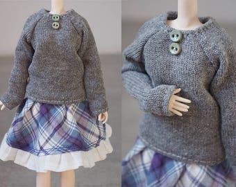 Obitsu Pullip Doll Handmade Sweater Outfit Set