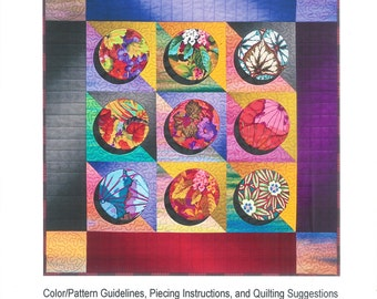 Pattern ''Elegant Circles'' Quilt Paper Pattern by Christine Barnes