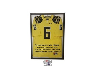 Custom Jersey display case for football, baseball, basketball, hockey, autographed jersey Create Your Own Text