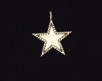 10 Pieces Star pendant, Star charms, Star charms with attached loop rope design, football charm 28x30mm 24-16-AS