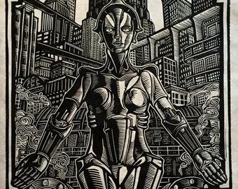 Metropolis Block Print