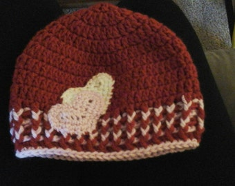 Crochet Valentines  day  hat child's  hat