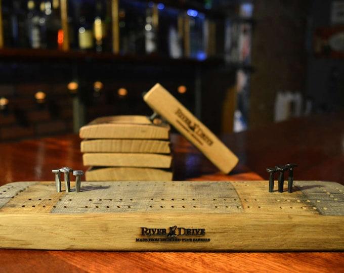 Whiskey Barrel Bar Set
