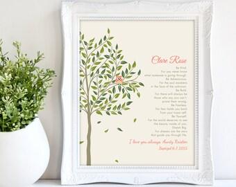 GODDAUGHTER gift - Gift for Goddaughter - Personalized gift for Goddaughter - Gift from Godmother, Gift From Godparents, Keepsake tree 8x10