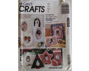 UNCUT McCall's 4050 Craft Pattern by Marti Michell Fabric Photo Picture Frames for Every Occasion Assorted Shapes and Sizes