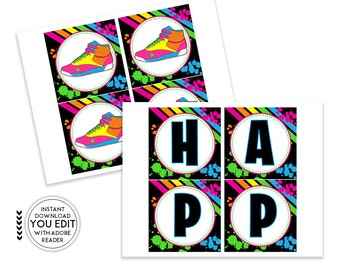 Hip Hop Banner, Hip Hop Party, Hip Hop Birthday, Printable Banner, Birthday Banner, Hip Hop Decorations, Hip Hop Decor | 533