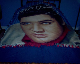 Elvis Presley Tied Throw with Red