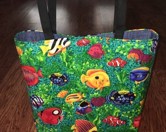 Fish Tote Bag  New