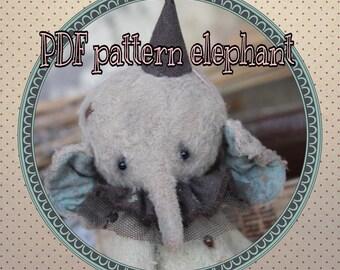 Pattern for 5,1  Inch elephant Teddy PDF
