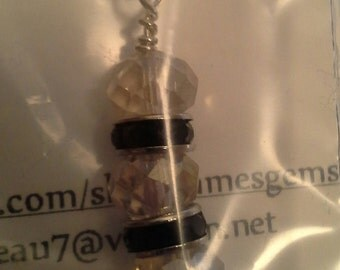 Champagne Glass Luster Rondels & Crystal Findings