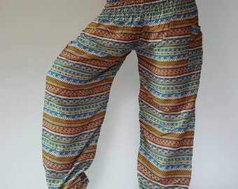 SM0049 Thai Genie Pants Comfy Trouser, Gypsy Pants Rayon Pants,Aladdin Pants Maxi Pants Boho Pants