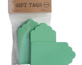 Green Gift Hang Tag  Scallop Gift Label Blank Design