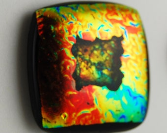 2772 dichroic cabochon - free shipping